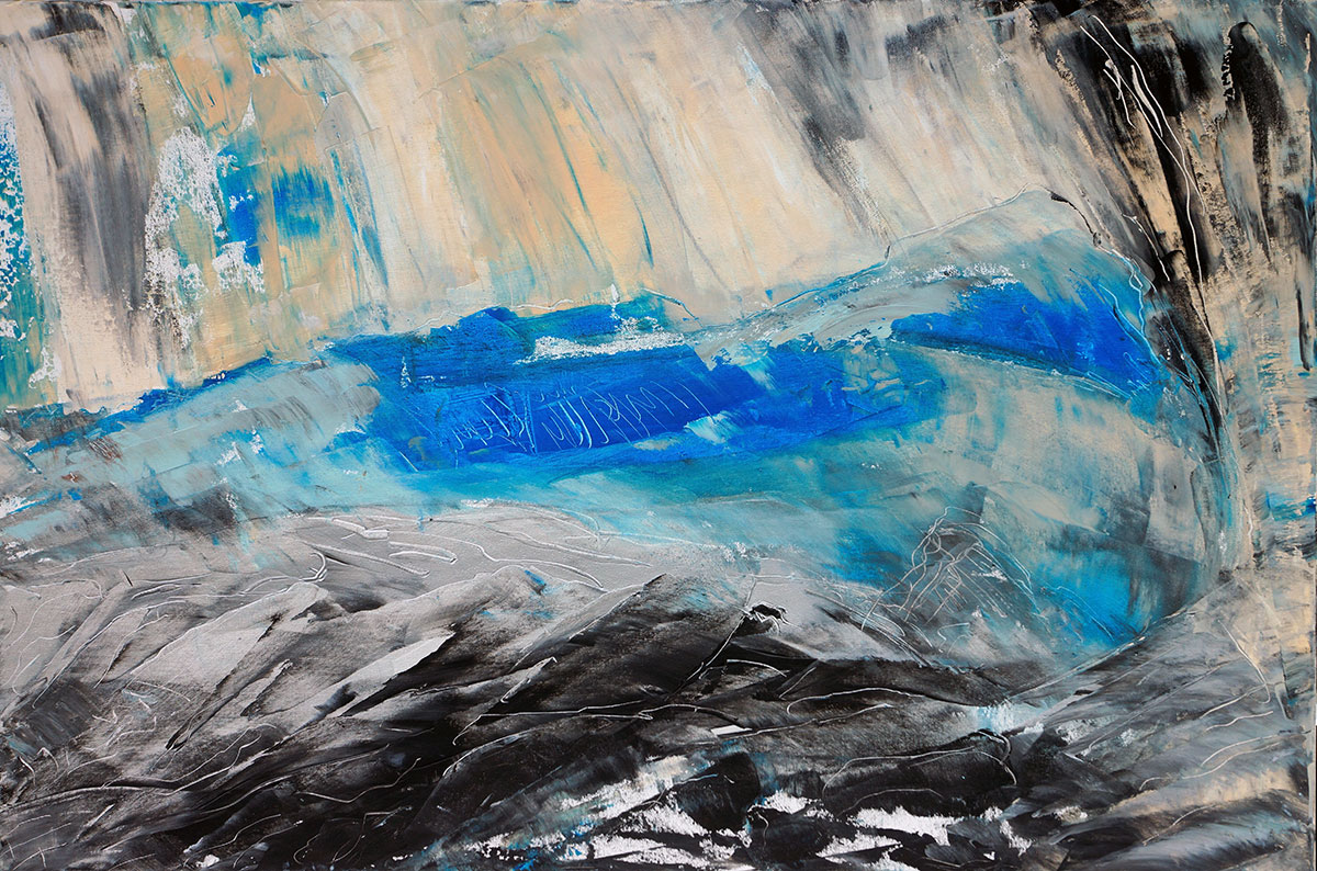 South Orkney 1, Subantarktis - 120x80 acryl on canvas
